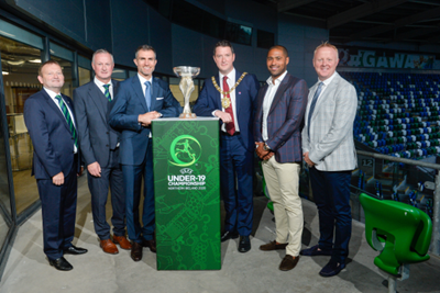 Lord Mayor launches 2020 UEFA Under-19 Championship at National Football Stadium