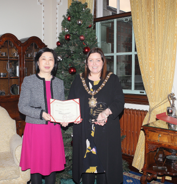 Lord Mayor says formal farewell to Chinese Consul General